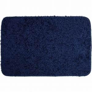 tapis de bain shaggy bleu marine achat vente tapis de With tapis de bain bleu