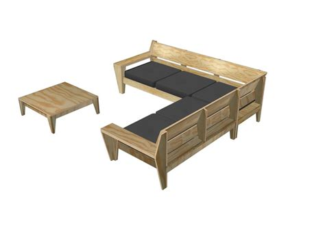 hoekbank steigerhout zelf maken tekening zelf lounge hoekbank maken bouwtekening loungeset