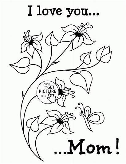 Coloring Pages Mothers Flowers Mommy Mom Mother
