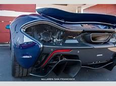 New McLaren P1 in Custom Blue Shade Arrives in San