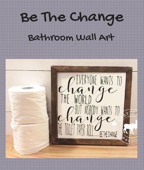 bathroom wood sign funny bathroom wall art toilet paper