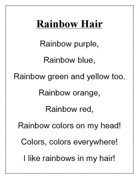 Brown Hair Poem by Rainbow Hair Poem Doc Drive Colors