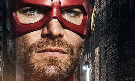 arrowverse crossover poster finds green arrow flash