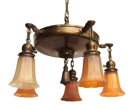 Glass Shades For Chandelier by Five Light Brass Chandelier With Glass Shades