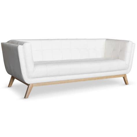 canapé blanc 3 places canapé scandinave 3 places design blanc pas cher