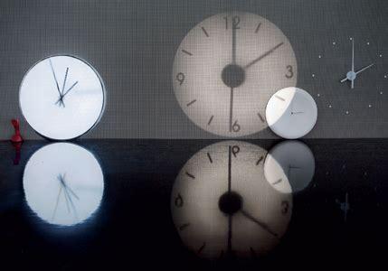 horloge murale projection
