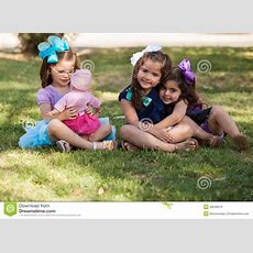 I Rather Play With My Doll Stock Image Image Of Sisters