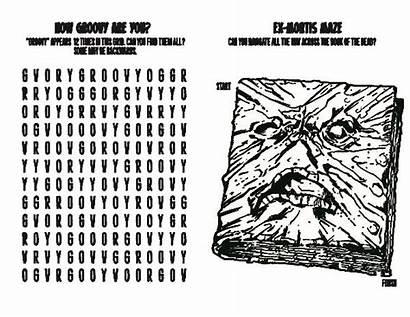 Evil Coloring Dead Adult Activity Comics