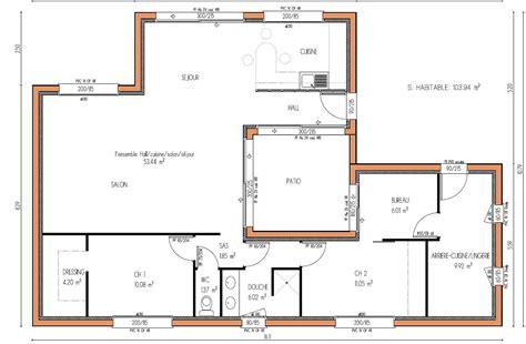 plan maison 5 chambres plan de maison 4 chambres avec patio