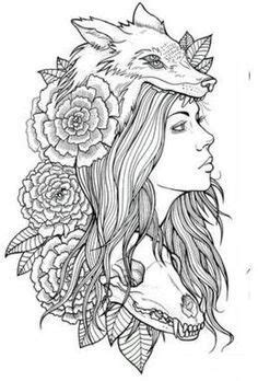 wolf headdress drawing - Google Search | Headdress tattoo, Tattoos, Tattoo drawings
