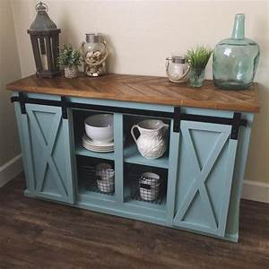 17 best ideas about rustic buffet on pinterest rustic With buffet table with barn doors