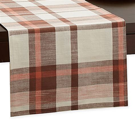 72 inch table runner buy homespun plaid 72 inch x 14 inch table runner from bed