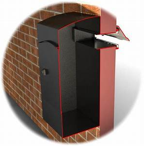 Ryder large capacity letter box for mounting behind a for Letter collection box