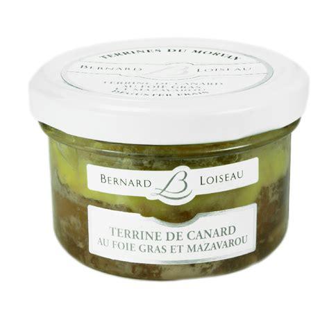 terrine de canard au foie gras et mazarou terrines du morvan