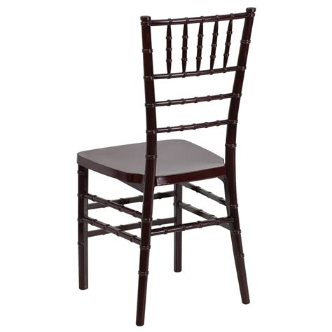 resin mahogany chiavari chairs hercules premium series mahogany resin stacking chiavari
