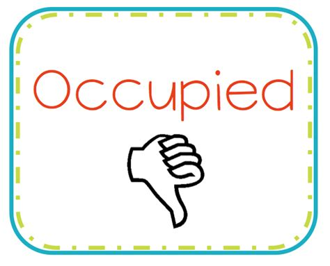Printable Bathroom Occupied Signs by Bathroom Occupied Signs Just B Cause
