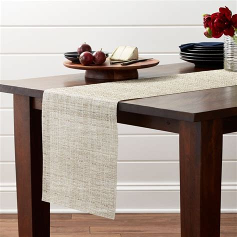chilewich crepe neutral  table runner reviews crate