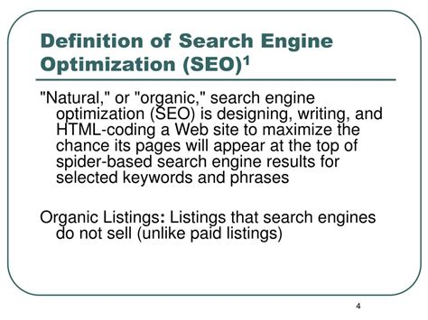 Seo Optimization Definition by Ppt Search Engine Optimization Seo Powerpoint