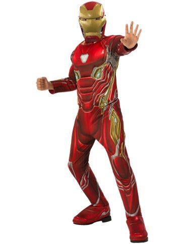 iron man infinity war deluxe child costume party delights