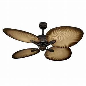 Oasis palm leaf ceiling fan amore lighting indoor
