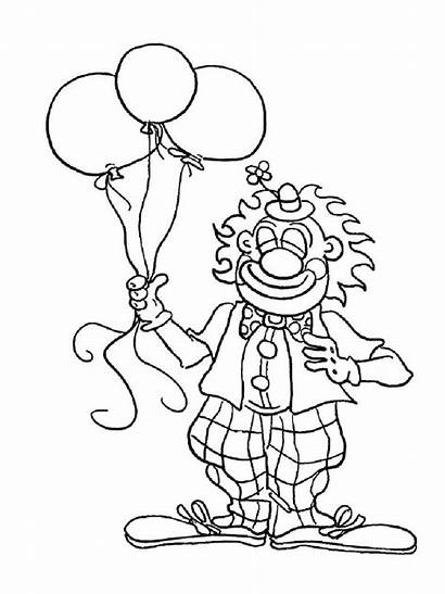 Coloring Clown Balloon Pages Balloons Mr Tree