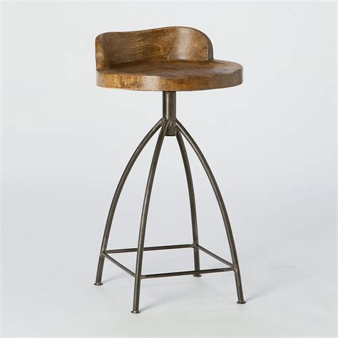 mango wood swivel bar stool furnishings