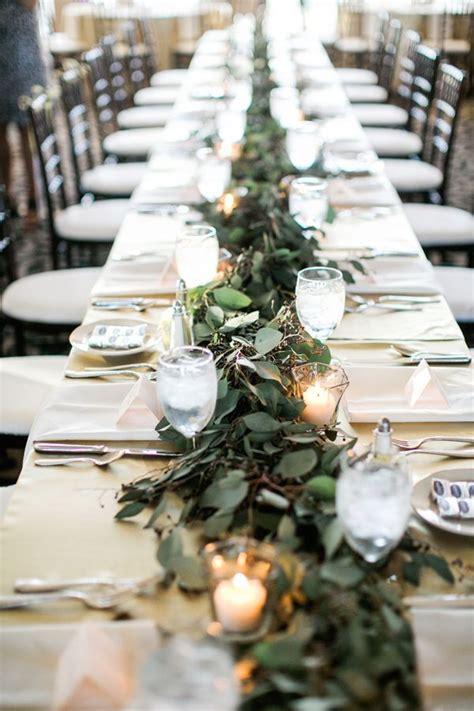romantic ballroom wedding  tulsa runners light table