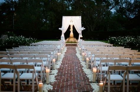 outdoor weddings evening wedding at city park botanical