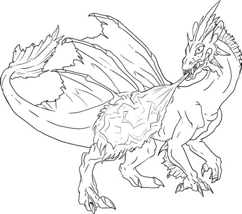 dragon coloring pages    print