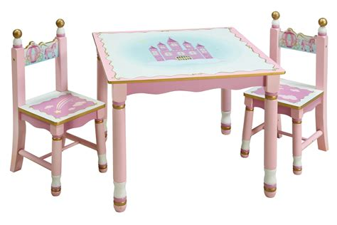 Guidecraft Preschool Princess Kids Pink Play Table