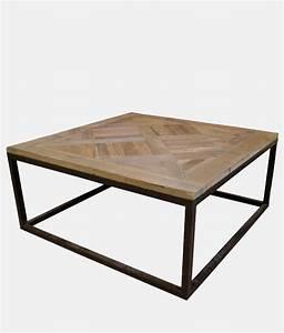 industrial coffee table square shape bestofexports With square shaped coffee table