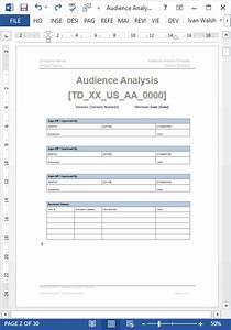 Audience Analysis  U2013 Template Ms Word Excel