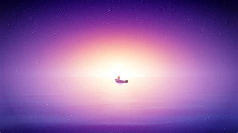 wallpaper  sunrise bright purple sea hd