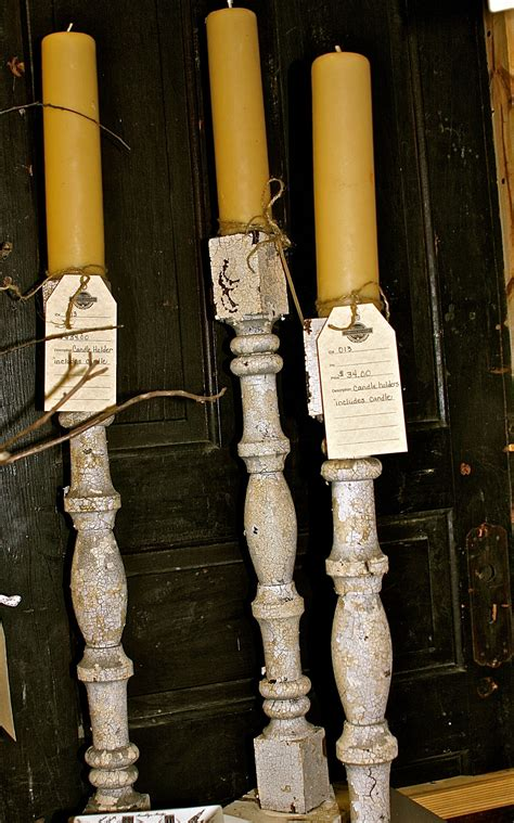 Wooden Porch Spindles by Porch Spindle Posts Used As Candle Holders