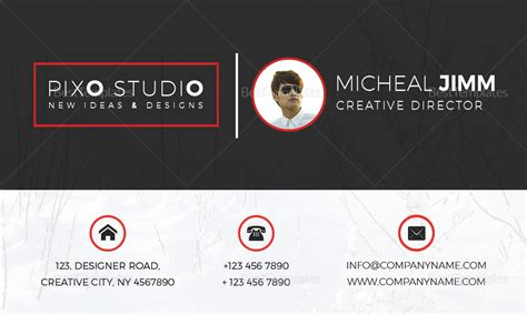 creative director business card design template  word