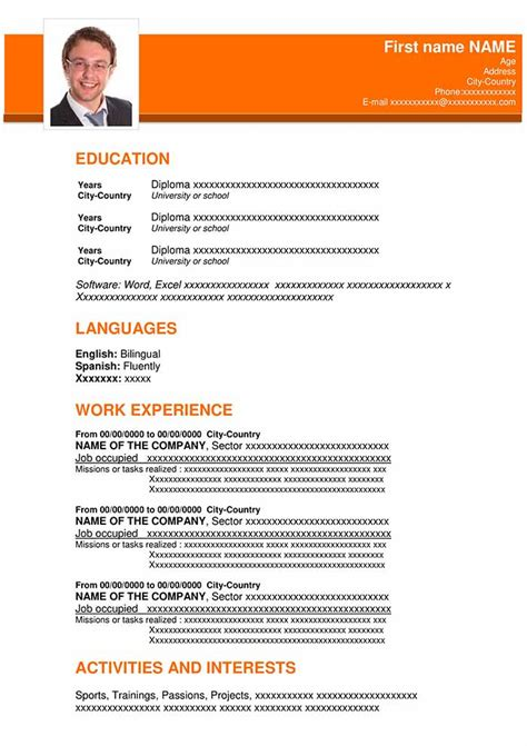 Resume Templatescom by Free Professional Resume Template In Word Format