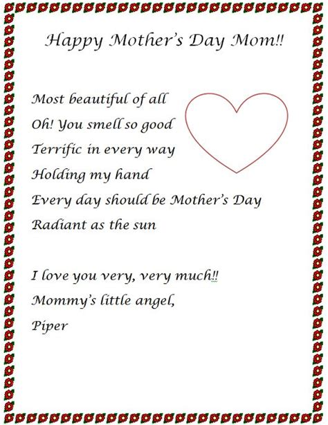 mothers day letter ideas   mom letter ideas