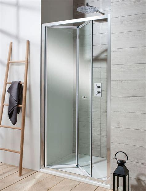 edge bifold shower door  bifold door luxury bathrooms