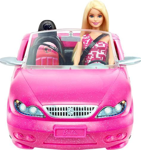 Best Buy: Mattel Barbie Doll and Glam Convertible Car Pink