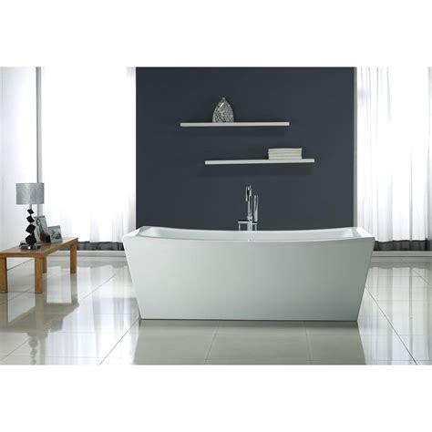 ove decors  ft terra center drain bathtub  white