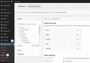 wordpress troubleshooter site header menu missing or does With html header menu templates