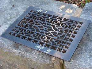 Cast iron floor grate no 3 for Wrought iron floor grates