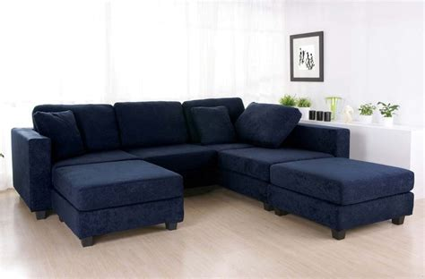 sectional with chaise navy blue sectional sofa design options homesfeed