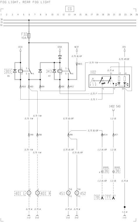 volvo f12 f16 wiring diagram fog light rear fog