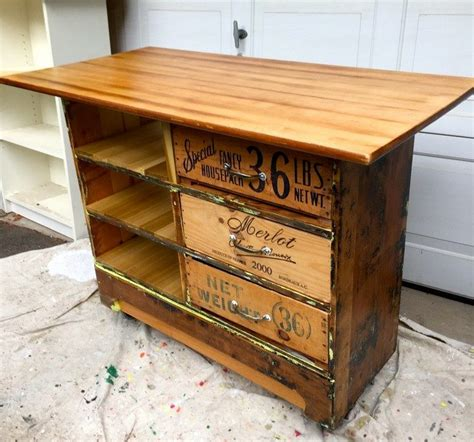 kitchen island made from dresser how to turn an dresser into a rustic kitchen island 9411