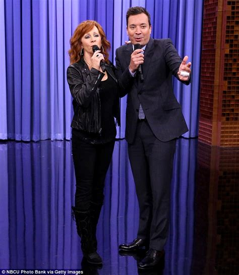 reba mcentire up close and personal reba mcentire sings to a fan in jimmy kimmel skit on the