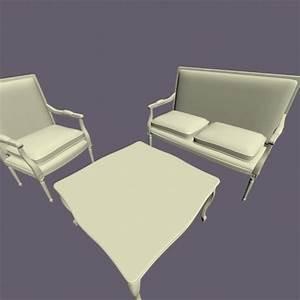 Fauteuil Deux Places : fichier 3d fauteuil deux places et table cults ~ Teatrodelosmanantiales.com Idées de Décoration