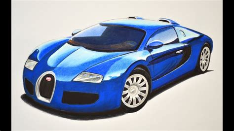 How To Draw A Bugatti With Colors
