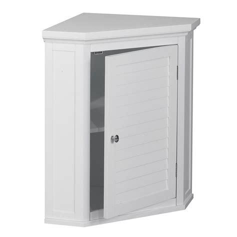 wall mounted corner cabinet 1 door corner wall cabinet in white elg 587