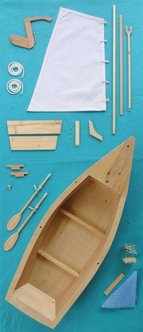 Skiff Zeilboot by Wood Skiff Sailboat Model Kit For American 18 Inch